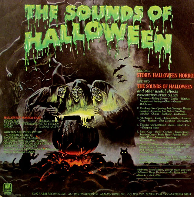 Halloween Horrors album back cover art