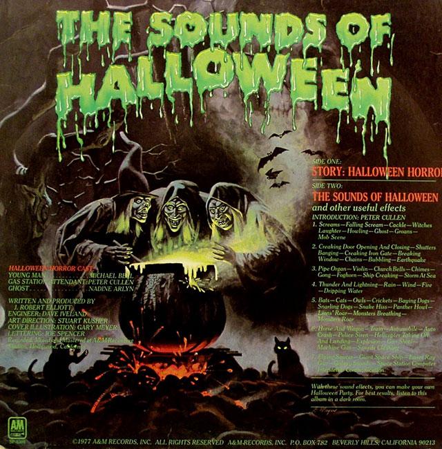Halloween Horrors album back cover art
