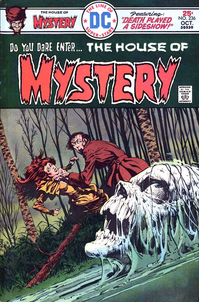 House of Mystery horror comic #236 cover art by Bernie Wrightson