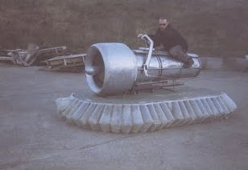 Jet engine powered hovercraft
