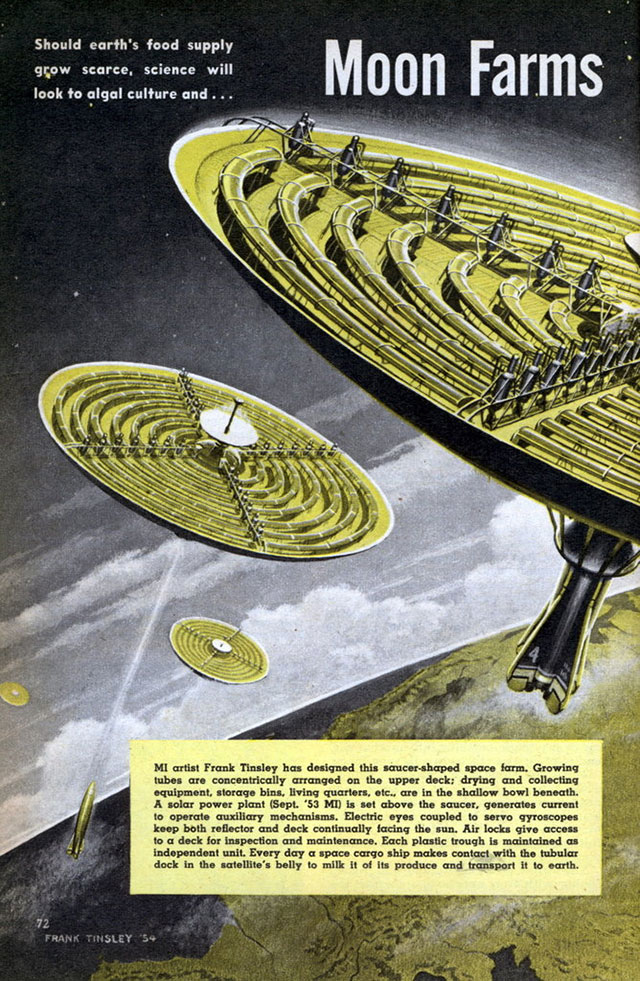 Mechanix Illustrated May 1954 Amazing Moon Farms Could Banish Starvation