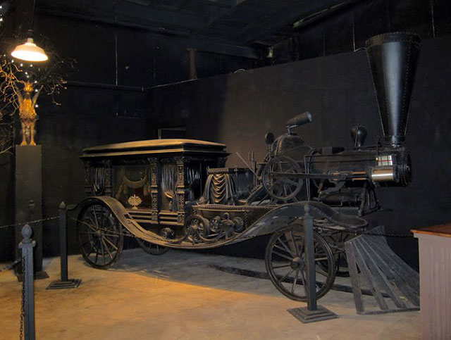 Steam powered hearse at House on the Rock in Wisconsin