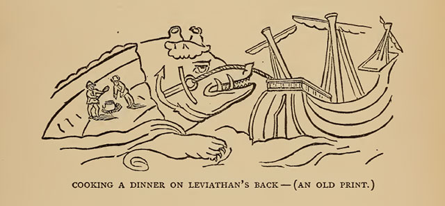 Cooking dinner on a leviathan's back