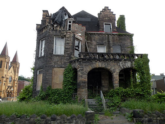 The Hitzrot house, also known as the McKeesport Castle