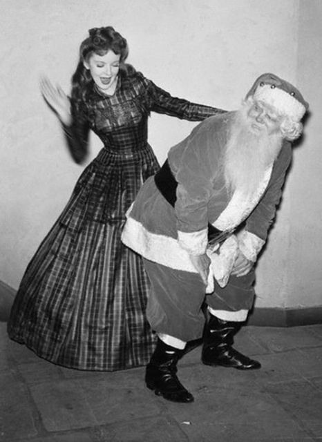 Vintage creepy Santa photo