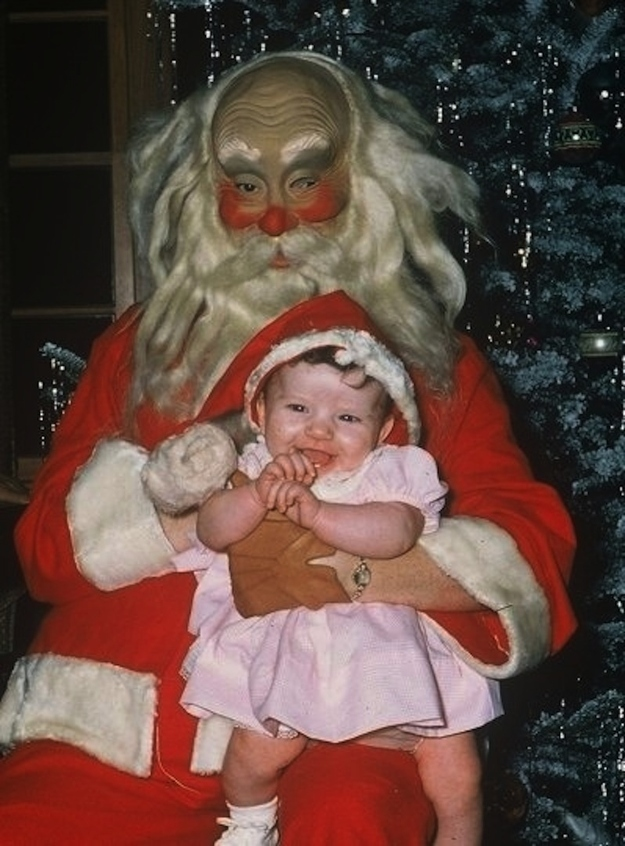 Creepy Santa Claus photo