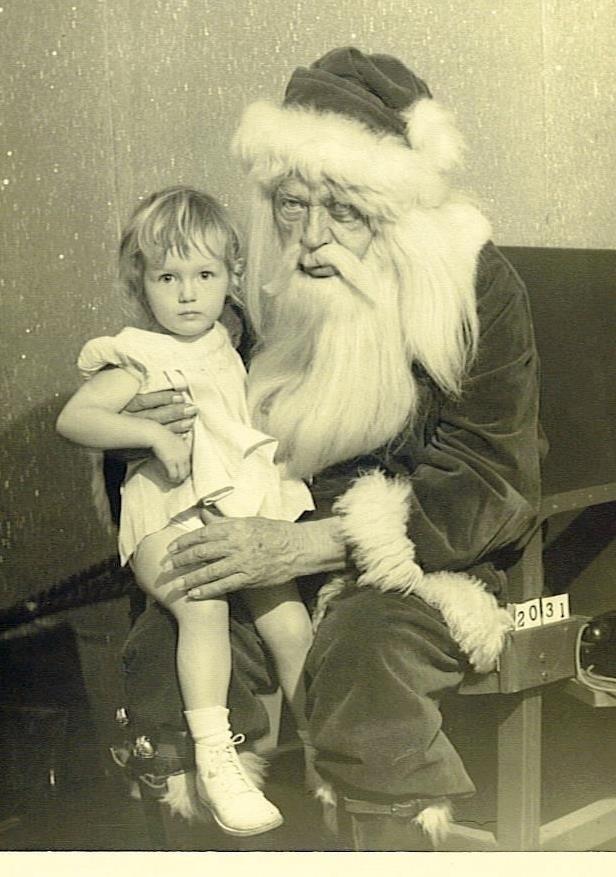 Creepy vintage Santa photo