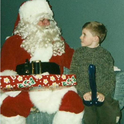 Did this creepy Santa Claus give him that balloon?
