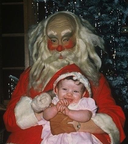 Creepy vintage Santa photos
