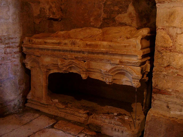 The tomb of St. Nicholas, the original Santa Claus