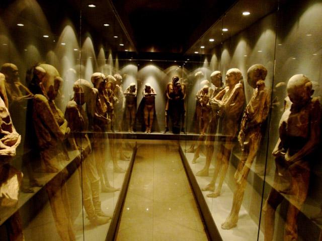 Las Momias de Guanajuato mummies on display in Mexico