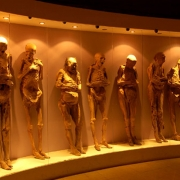 Museum of mummified cholera victims in Guanajuato, Mexico