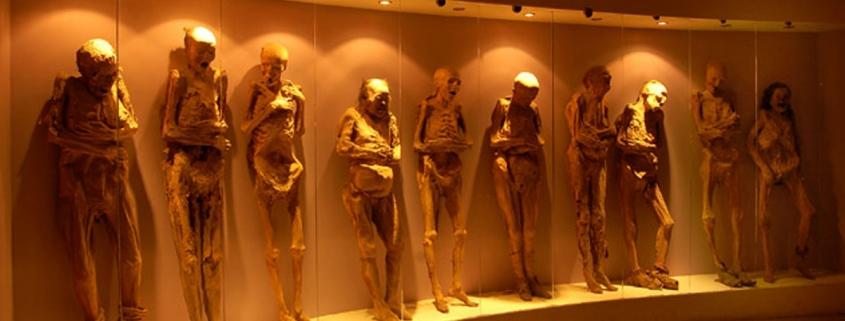 Museum of mummified cholera victims in Guanajuato, Mexico
