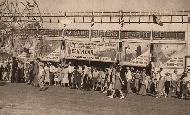 The Bonnie and Clyde death car crime exhibition