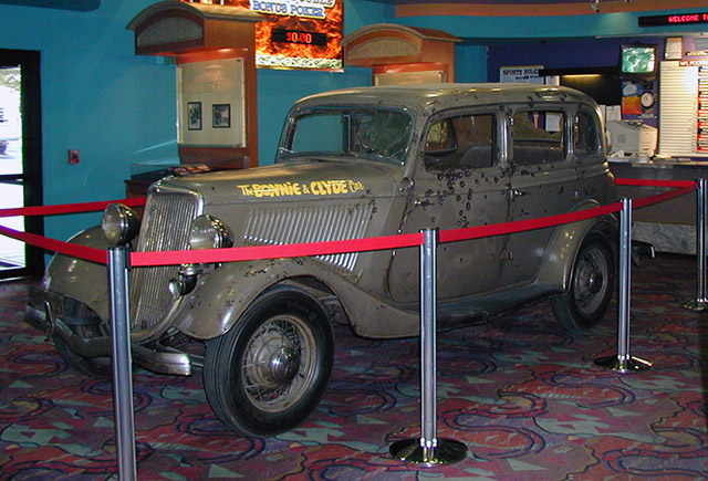 The Bonnie and Clyde death car on display