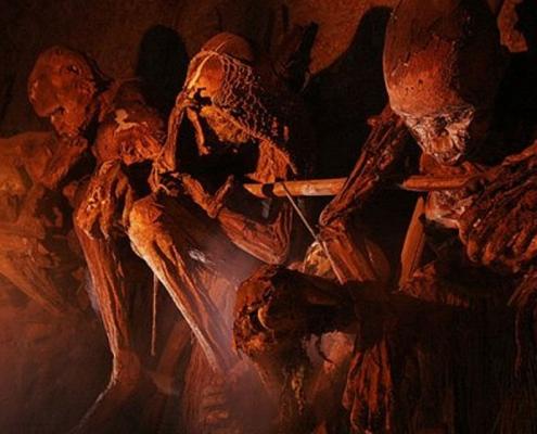 Roasted mummies of the Anga tribe of Papua New Guinea
