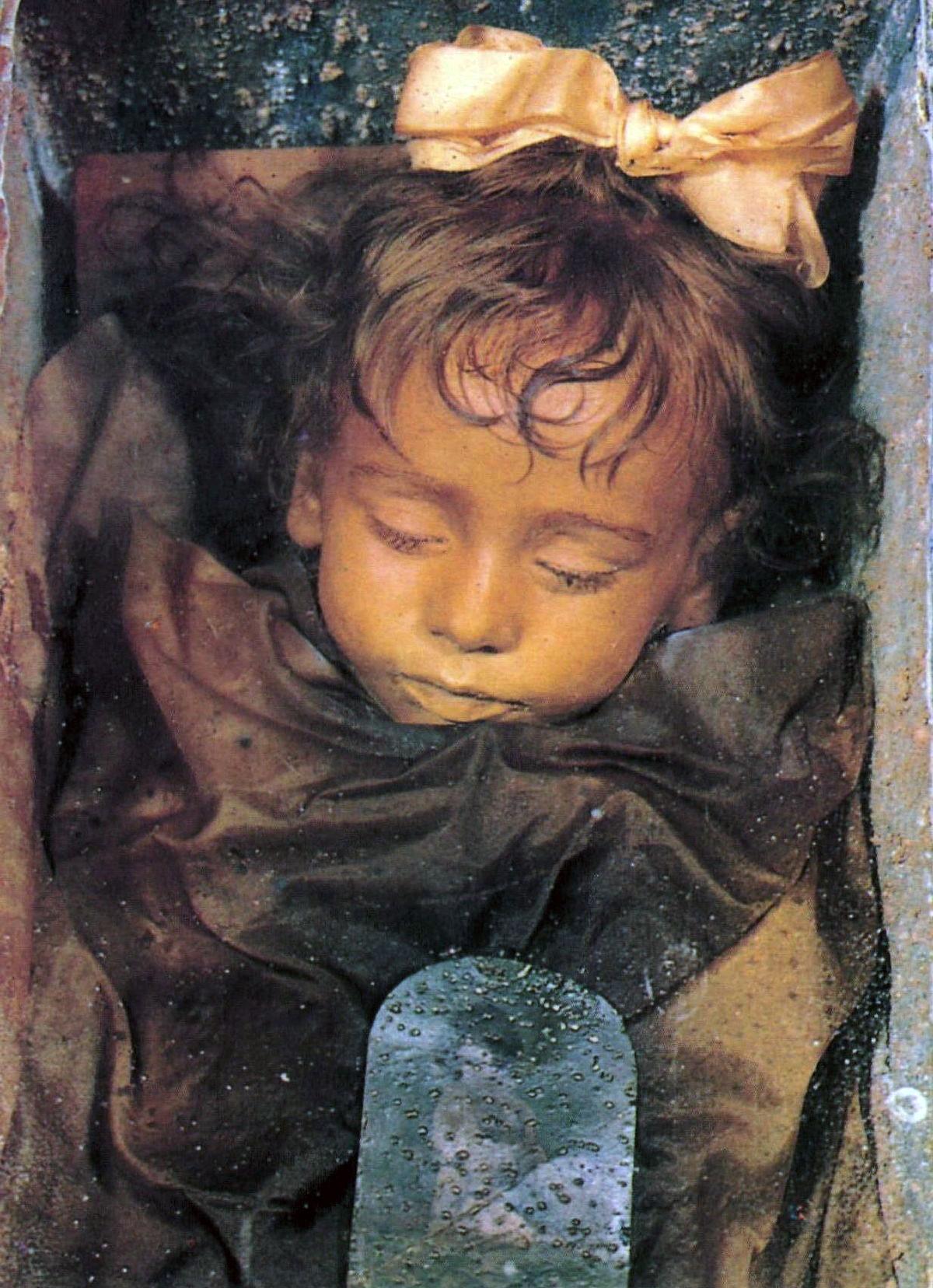 Rosalia Lombardo, the Sleeping Beauty child mummy of the Capuchin catacombs