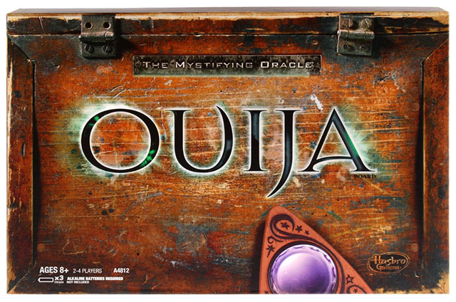 Hasbro's latest edition of the Ouija board talking board game