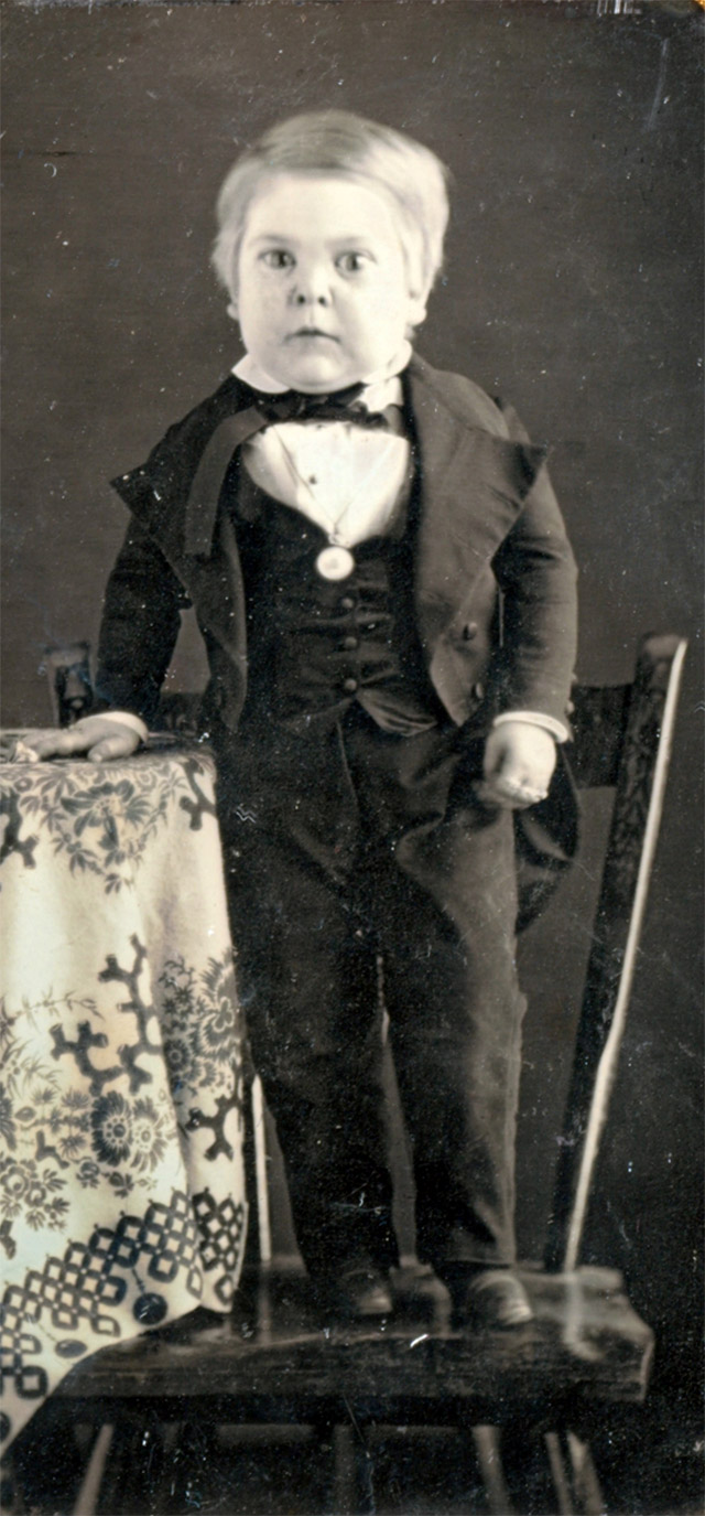 Barnum's freak show midget Charles Stratton, known as General Tom Thumb