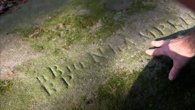 Rock with strange inscription near the Goshen Mystery Tunnel