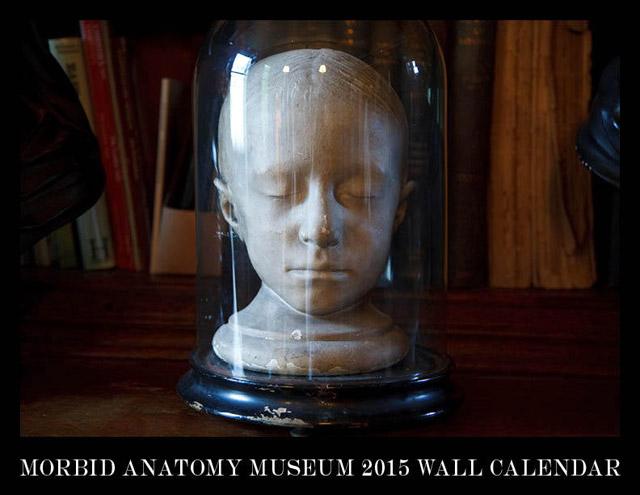 Morbid Anatomy 2015 wall calendar