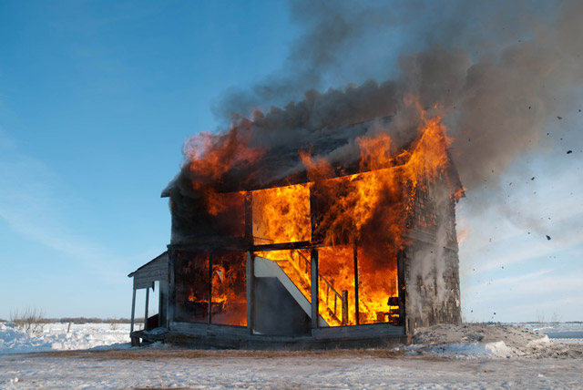 Heather Benning's life-size dollhouse burns to the ground