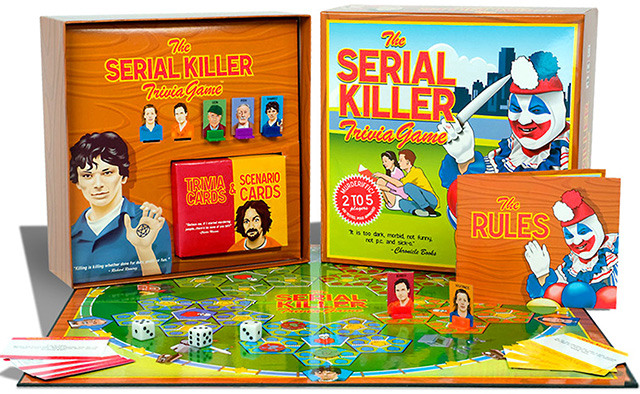 Serial killer trivia board game
