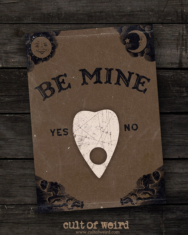 Ouija board printable valentines day cards from Cult of Weird