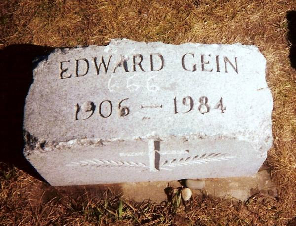 The gravestone of Ed Gein in Plainfield, WI