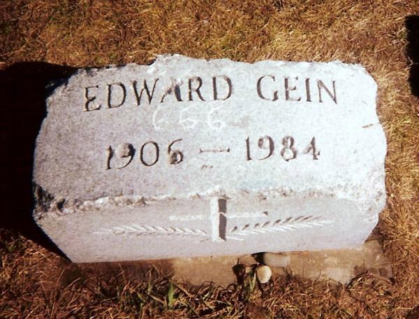 Gravestone of Ed Gein