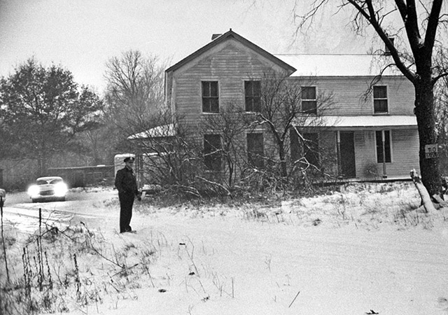 Ed Gein's house after his arrest in 1957