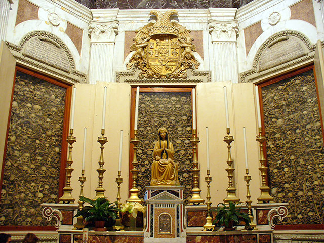 Otranto cathedral reliquary filled with the bones of martyrs beheaded by Ottoman troops in 1480