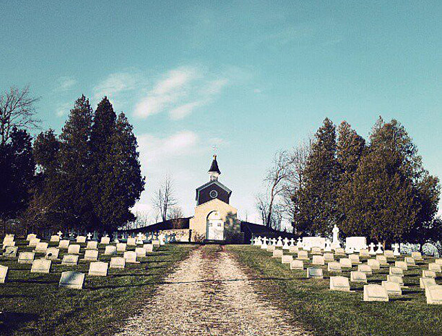 The crypt of Father Ambrose Oschwald in St. Nazianz, Wisconsin