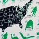 Monsters in America cryptid road trip map