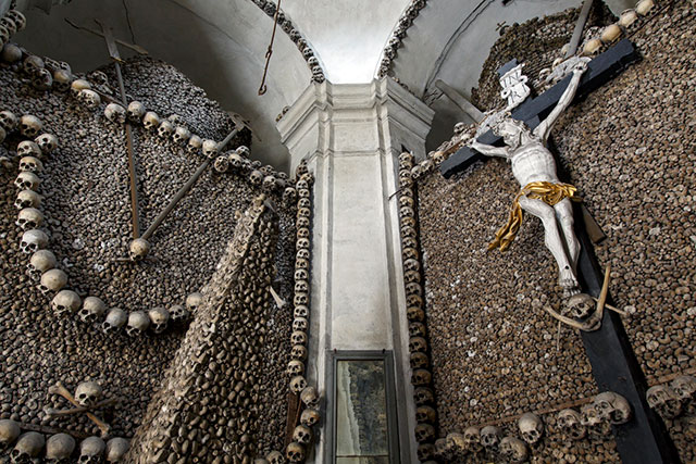 kolin 18th century charnel house in the Czech Republic from the book Memento Mori