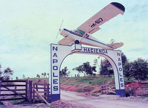 The entrance to Pablo Escobar's ranch Hacienda Napoles