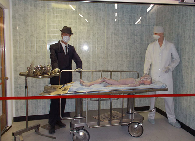 Alien autopsy exhibit at the Roswell UFO museum