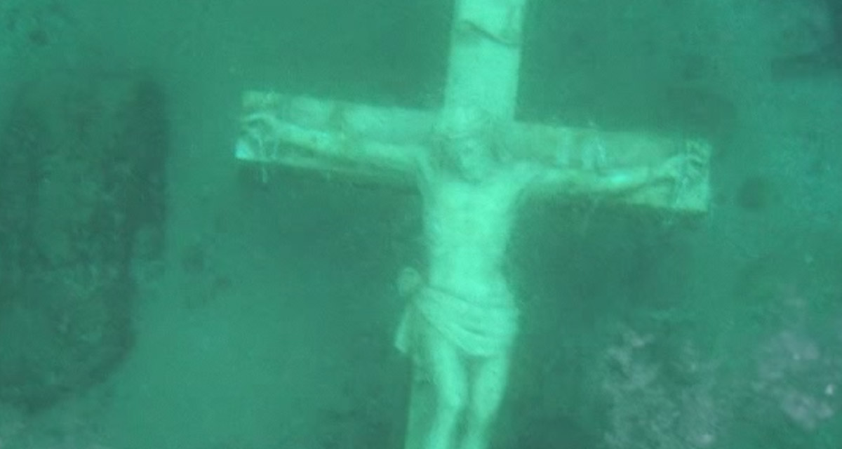 What Is A Giant Crucifix Doing At The Bottom Of Lake Michigan