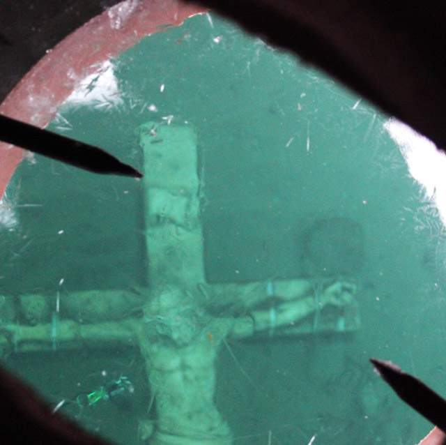 An underwater crucifix at the bottom of Lake Michigan off the shore of Petoskey will be open for viewing