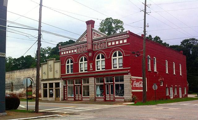 Downtown Grantville, Georgia where Walking Dead was filmed