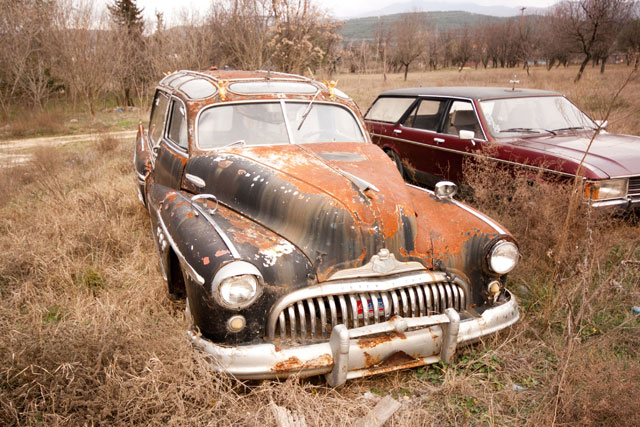 1947 Frankenstein Buick hearse