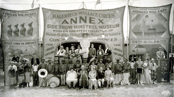 A photo of the Hagenbeck-Wallace circus in 1917