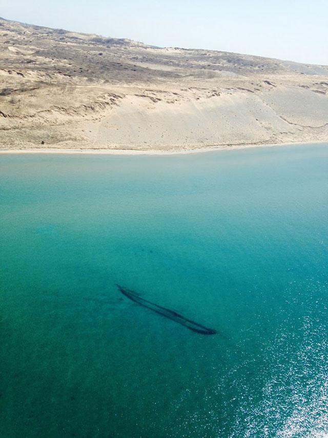Shipwreck of the James McBride in Lake Michigan