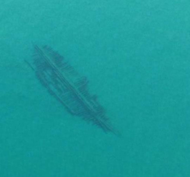 Unidentified shipwreck in Lake Michigan