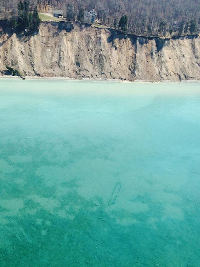 Unknown Lake Michigan shipwreck