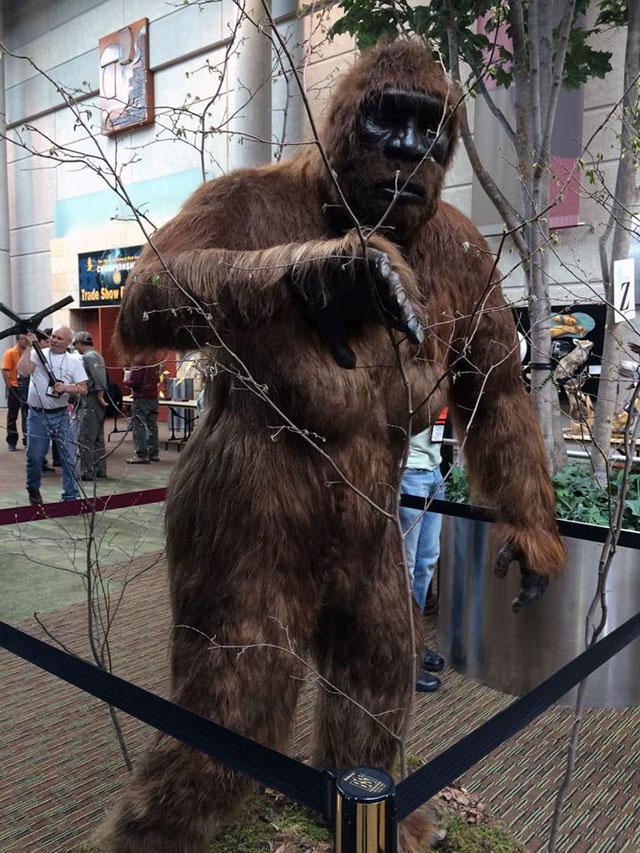 Photo of Ken Walker's taxidermy Bigfoot by Katie Innamorato