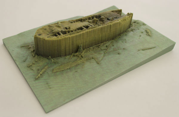 3D printed model of the HMS Erebus wreck