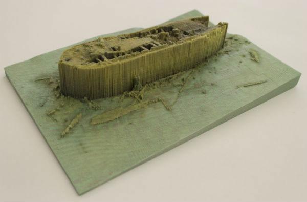 3D printed model of the HMS Erebus wreck