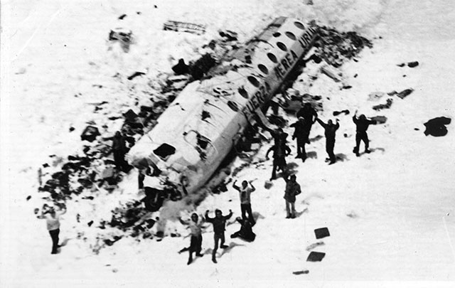 Flight 571 survivors being rescued in the Andes