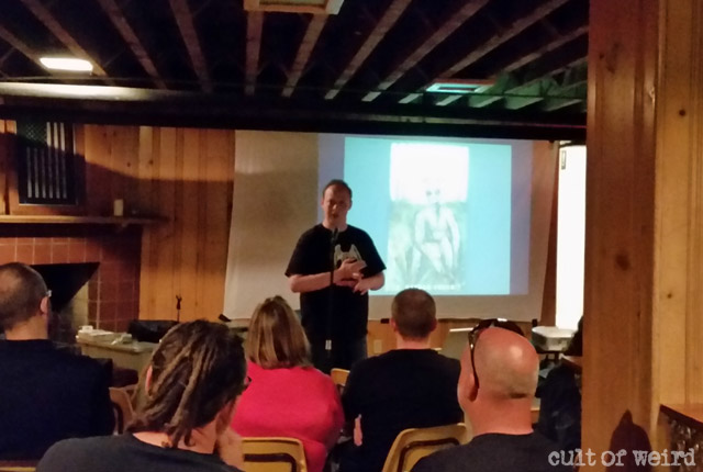 J. Nathan Couch talks goatman legends at the Milwaukee Paranormal Conference